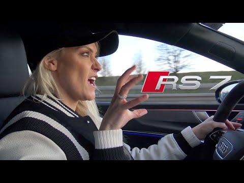 New Audi RS7 on the German Autobahn!