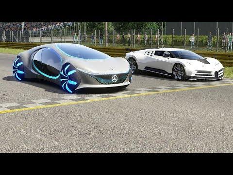 Mercedes-Benz Vision AVTR vs Bugatti Centodieci at Monza Full Course