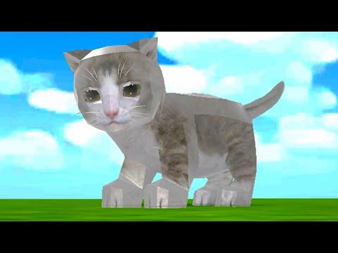 СИМУЛЯТОР Маленького КОТЕНКА #7 Серебряная Кошка в парке в Cat Sim и друзья на пурумчата