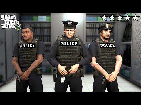 Плохие копы МАЙКЛ, ФРАНКЛИН и ТРЕВОР наводят порядок! - GTA 5 Игра за Полицейского (Моды ГТА 5)