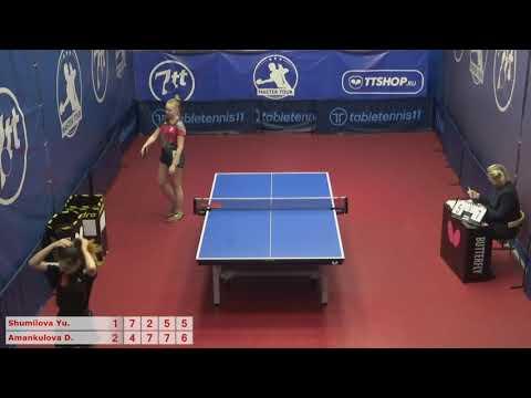 Настольный теннис матч 051220 6  12:20  Шумилова Юлия  Аманкулова Дарина