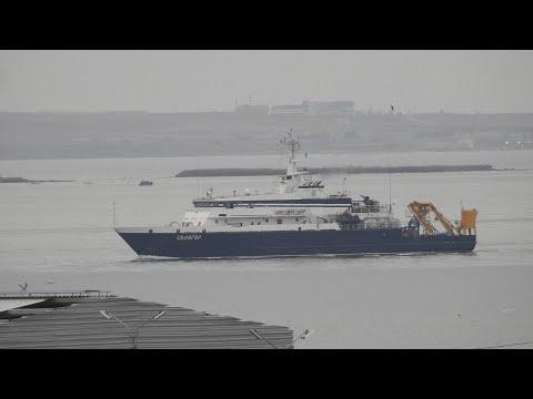 Научное судно «Селигер» аналогов в мире не имеет.Керченский пролив.