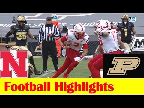 Nebraska vs Purdue Football Game Highlights 12 5 2020