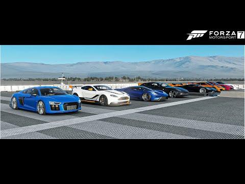 Top 20 Fastest Audi Cars Drag Race - Forza Motorsport 7
