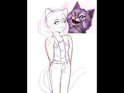 Я всё нарисовала Кошка Лана мяу мяу~