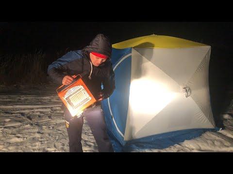 Подводная Охота На Амура в Карманово Зимой. Лучшая Палатка Для Переодевания Зимой. Палатка - Куб.