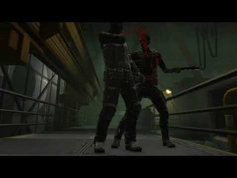 Крутая разборка с Берком вручную и его людьми в игре Deus Ex Human Revolution Directors Cut