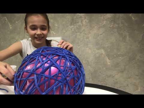 Мастер класс. Как сделать шар из ниток своими руками?