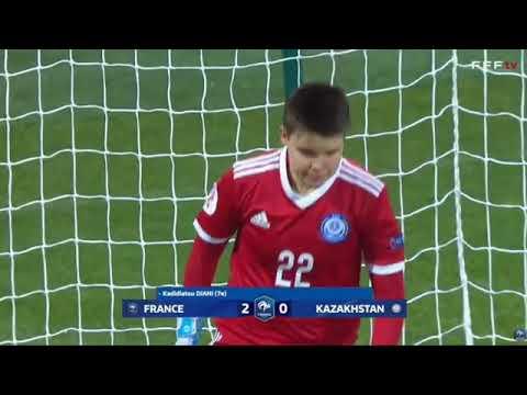 Франция - Казахстан 12:0 Женский футбол