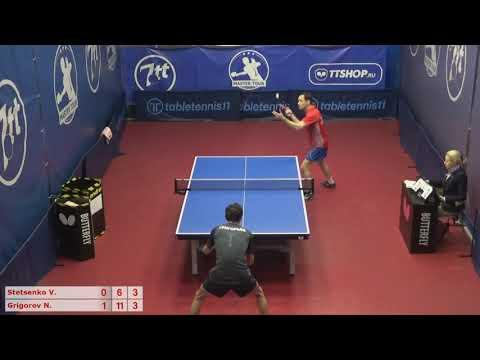 Настольный теннис матч 081220 12  16:00  Стеценко Владимир  Григорьев Николай