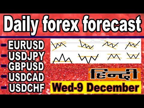 ( 9  December )  daily forex forecast | EURUSD | USDJPY | GPBUSD | USDCAD | USDCHF | forex | Hindi |