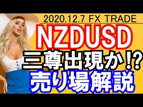 【2020/12/7.FX相場予想】ニュージードル(NZDUSD)三尊出現か?売り狙い!EURGBPロング解説!【最新のFXトレードを毎日更新】