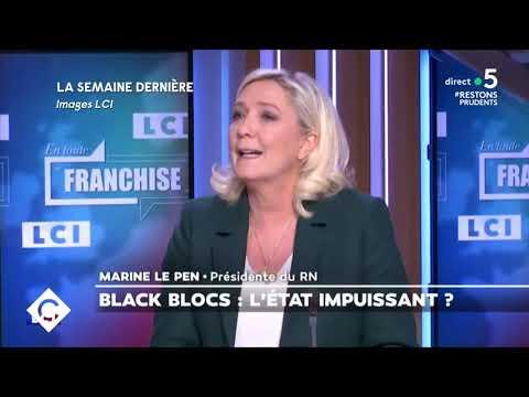 Black blocs, un défi au maintien de l'ordre - C à Vous - 08/12/2020