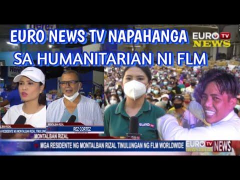 GOOD NEWS 1MILYON TAO MATUTULUNGAN NI FLM #EURO NEWS TV NAPAHANGA SA HUMANITARIAN NI FLM