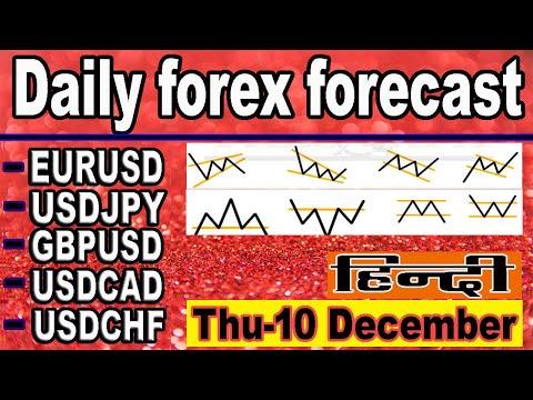 ( 10  December ) daily forex forecast | EURUSD | USDJPY | GPBUSD | USDCAD | USDCHF | forex | Hindi |