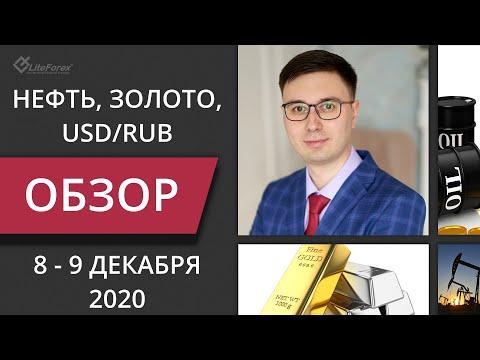 Цена на нефть, золото XAUUSD, курс доллар рубль USD/RUB. Форекс прогноз на 8-9 декабря