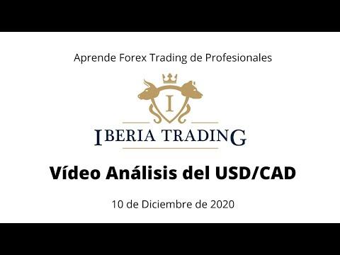 CURSO DE FOREX TRADING: Vídeo Análisis USD/CAD 10 de Diciembre de 2020