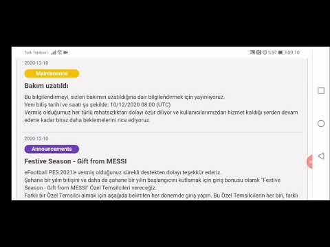 BAKIM UZATILDI ( Pes 2021 Mobile)