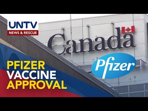 Pfizer COVID-19 vaccine, inaprubahan na ng Health Canada