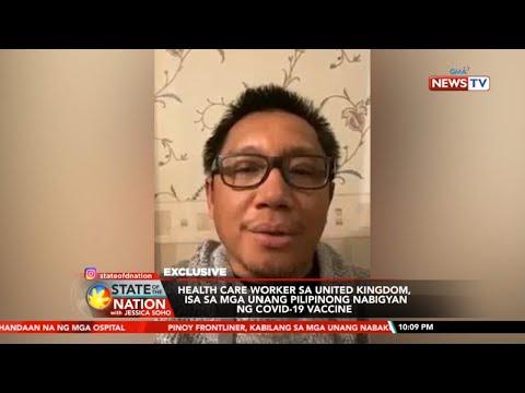 SONA: Pinoy health care worker sa United Kingdom, isa sa mga unang nabigyan ng COVID-19 vaccine