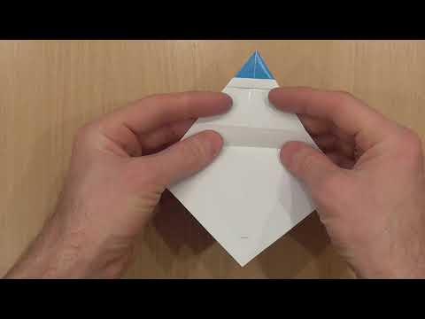 Как сделать Снеговика своими руками из бумаги / Простые НОВОГОДНИЕ ОРИГАМИ