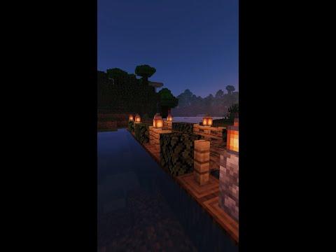 Как сделать красивый мост в Майнкрафт/Minecraft #shorts