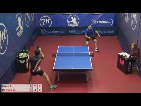 Настольный теннис матч 111220 7  15:00  Буров Алексей  Маймула Константин