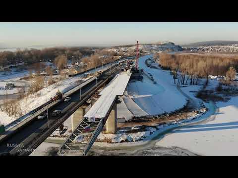 Строительство нового автомобильного моста через реку Сок / декабрь 2020 г./ Самара / Russia