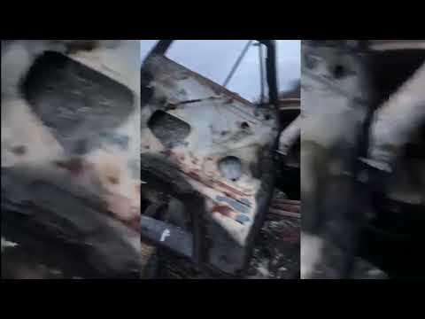 На кордоні з РФ згорів «УАЗ» з контрабандним кав'яром