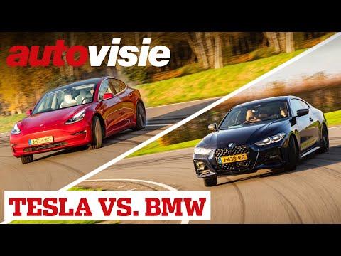 Tesla Model 3 Performance vs. BMW 430i M | Hoe leuk kan een elektrische auto zijn? | Autovisie