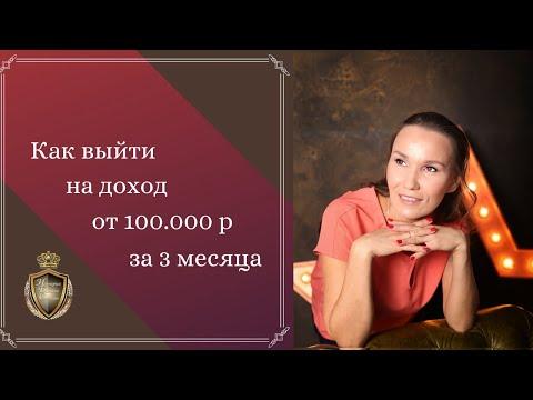 Как выйти на доход от 100 000 руб за 3 месяца
