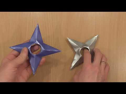 Как сделать бумажные Звездочки Ниндзя (Сюрикэн) своими руками