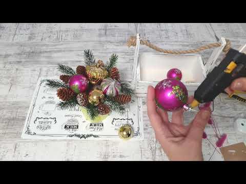 Как сделать новогоднюю  композицию в чашке / ведёрке из ФИКС ПРАЙС? Новогодняя композиция в кружке