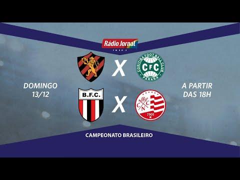 Sport x Coritiba, ao vivo, pela Série A e Botafogo-SP x Náutico pela Série B na Rádio Jornal