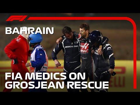 FIA Medical Car Team Describe Grosjean Rescue   2020 Bahrain Grand Prix