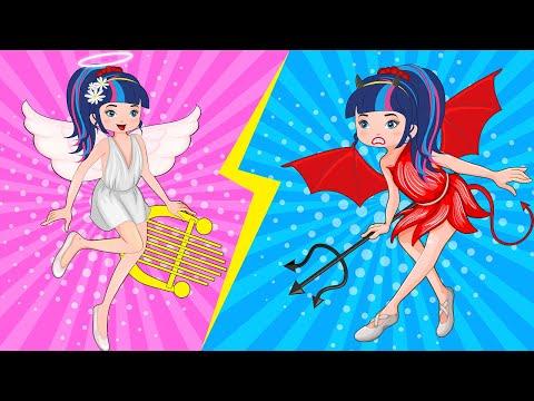 Angel vs Demon / Good and Evil  And More Cartoon Animation Collection | 2020-12-20 20:01:22 | несуразный перезапись 088b