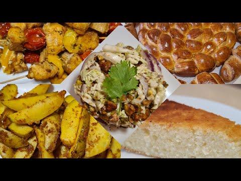 Готовим завтрак,обед и ужин/ Ватрушка, пампушки с нутеллой,шашлык,лёгкий салат и вкусный картофель   2020-12-21 00:05:25   глинобитный столярничество fbb6