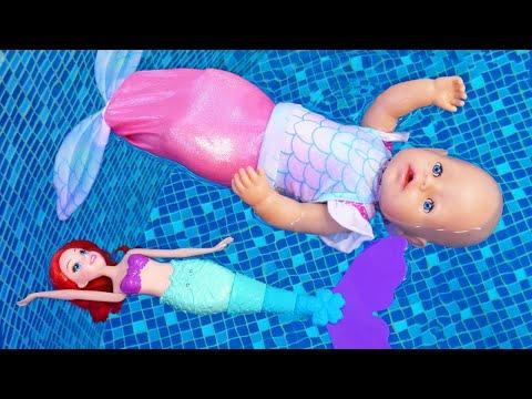 Кукла Беби Бон - Русалка! Мультики для детей с Baby Born. Смешные видео игры для детей | 2020-12-22 13:20:25 | графический застопоривание a475