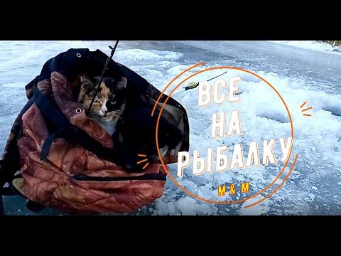 Все на зимнюю рыбалку! Рюкзачные животные /Хуторок у Реки/Life in the village | 19:43:45 | надувной отвес #f995
