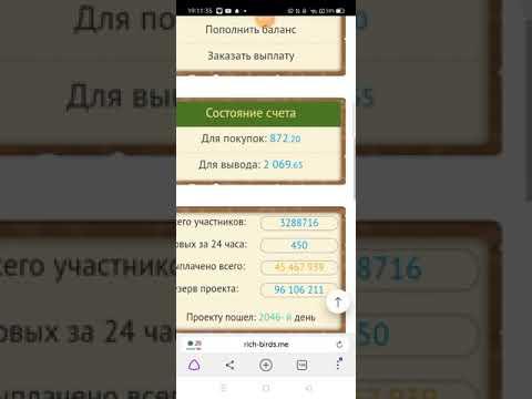Как заработать денег на киви кошелек, Яндекс деньги, Пайер? RICH BIRDS (слова в описание) | 01:30:32 | неслыханный миокардий #83e6