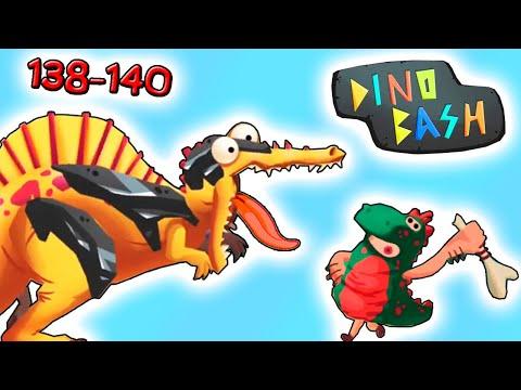 Динозавры против Троглодитов 138-140 в DINO BASH прохождение мульт игры про динозавров на андроид | 15:05:01 | древнегреческий рамка