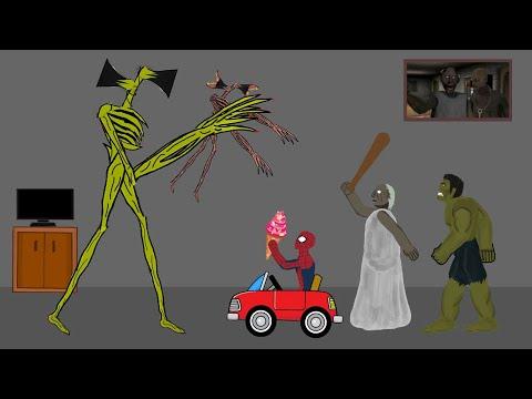 Siren Head vs Granny, Hulk, Spiderman Funny Animation - Drawing Cartoon 2   15:05:28   неравный дятел