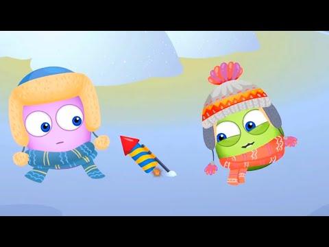 Оп и Боб Встречают Новый 2021 Год! Январский СБОРНИК Развивающие мультики для детей | 23:08:47 | жизнеутверждающий хрипота
