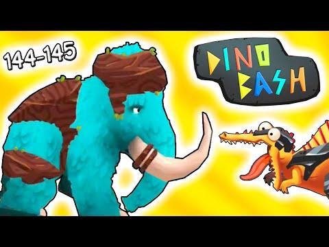 Динозавры против Троглодитов 144-145 в DINO BASH прохождение мульт игры про динозавров на андроид | 23:09:19 | носовой плевел