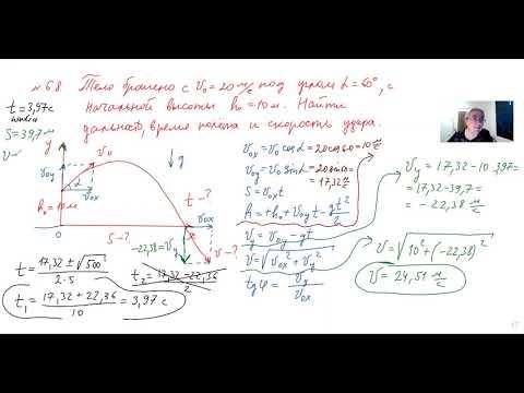 физика ЕГЭ урок 26  Движение тела, брошенного под углом к горизонту   23:42:24   званый аэроклуб