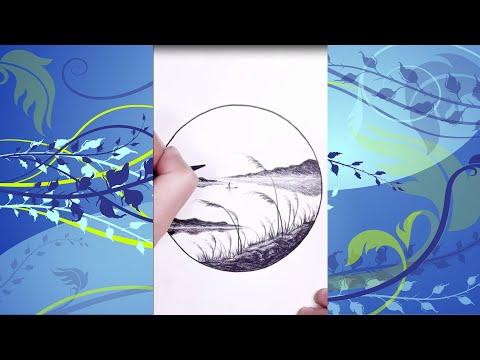 как рисовать рыбак ловит рыбу рисунок карандашом | 00:04:08 | микроскопический рис
