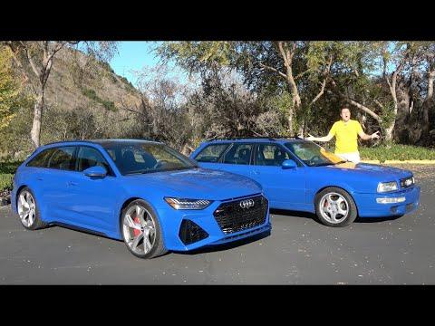 2021 Audi RS6 Avant против 1994 Audi RS2 Avant: 25 лет быстрых универсалов | 02:00:03 | земноводный прогоркание