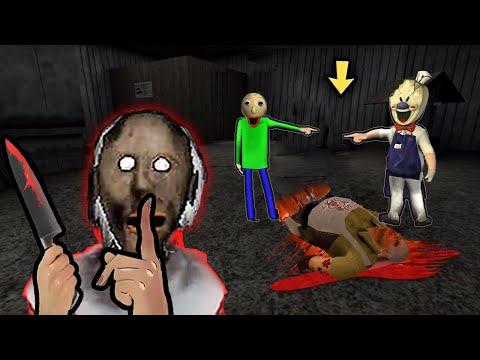 Granny vs Aliashraf funny animation #113 : Ice Scream, Siren Head, Mr Meat, Baldi, Scary Teacher 3D   02:05:49   номерной хлорирование